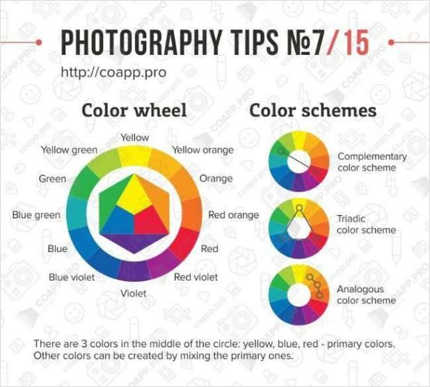 Photography Tips Color Chart Photogrpahy Tips Photography Tips