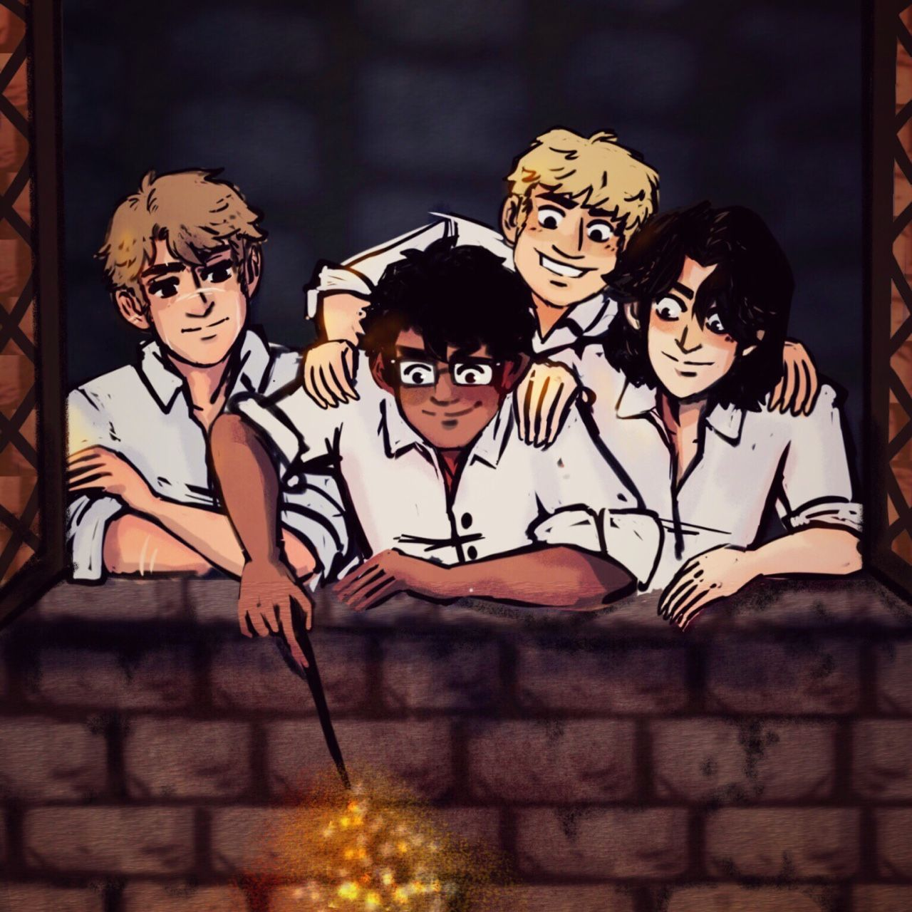 The Marauders By Gin Draws Harry Potter Parts Harry Potter Wallpaper Harry Potter Art