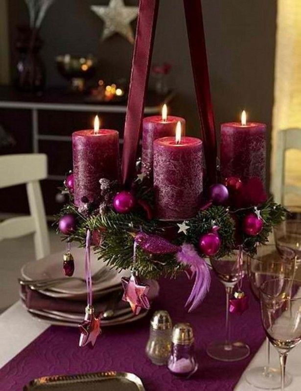 25 Impressive Christmas Centerpieces Ideas Purple Christmas Decorations Christmas Centerpieces Christmas Table Centerpieces