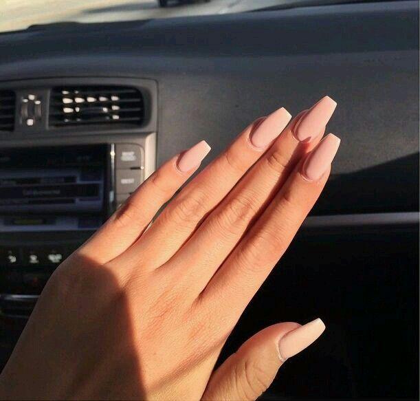 Nails, Nail Polish, Pink, Long, Simple, Natural, Nude, | Amazing ...
