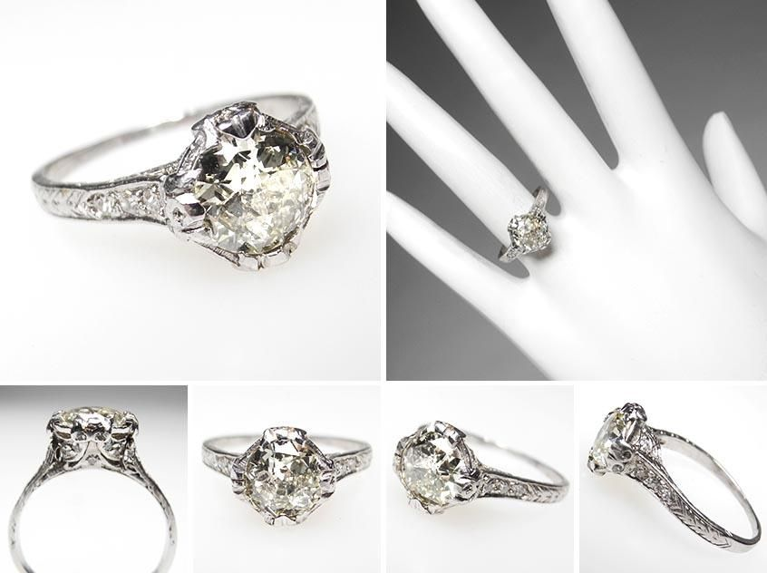 beautiful vintage estate ring from weston jewelry - Estate Wedding Rings