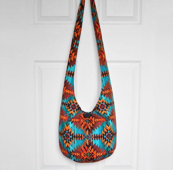 d5846a30d4947 Hobo Bag Boho Bag Hippie Purse Crossbody Bag Sling Bag Hippie Bag Aztec  Southwestern Geometric Handmade Purse Bohemian Purse Boho Purse