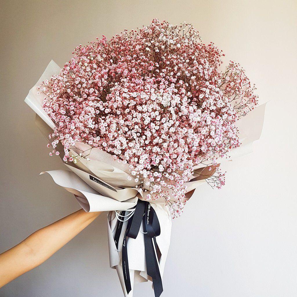 Pink Baby S Breath Bouquet Flowers Bouquet Gift Boquette Flowers Babys Breath Bouquet