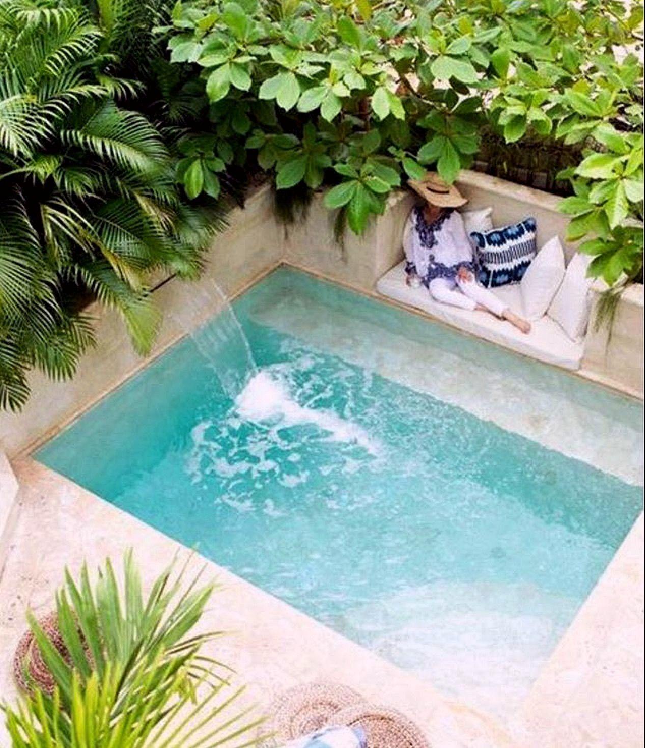 35 Small Backyard Swimming Pool Designs Ideas You Ll Love Homelovers Backyard Pool Small Pool Design Backyard Pool Designs