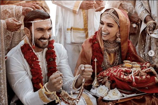 First Pictures Of Deepika Ranveer S Italian Wedding Deepika Ranveer Deepika Padukone Bollywood Wedding