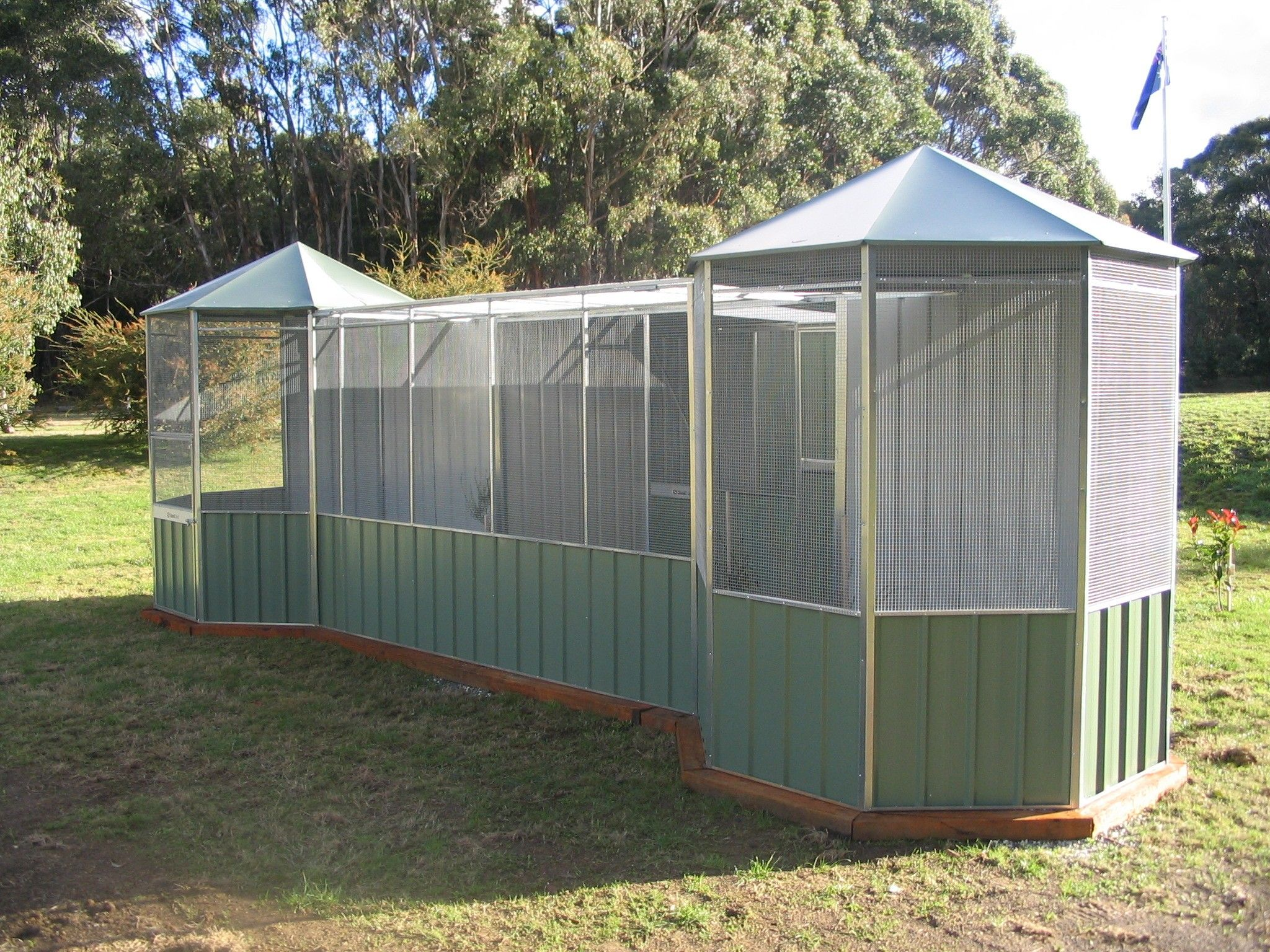 Walk in bird aviary for sale1 bird aviary pinterest for Large sheds for sale