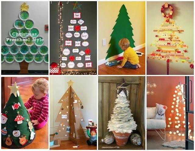 Recursos:30 ideas DIY para crear árboles de Navidad