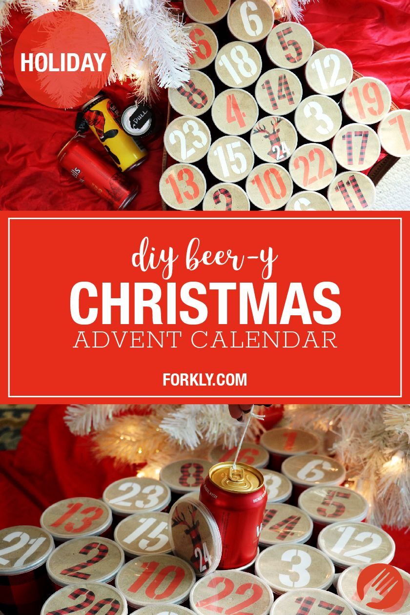 Beer Y Christmas Advent Calendar Forkly Christmas Advent Calendar Christmas Advent Diy Advent Calendar