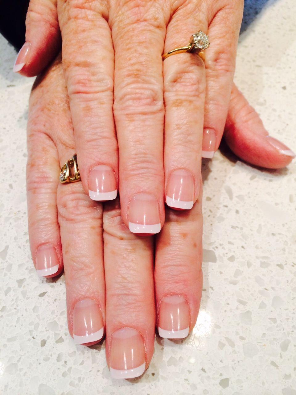 Classic White French Tip Acrylic Nails www.vitalitystudiosa.com ...
