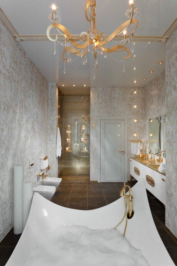 Una mirada profunda a 8 baños de lujo Diseños de baños modernos - baos lujosos