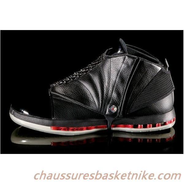 Nike Air Jordan Retro 16 Sneakers XVI Chaussures Noir / Rouge pour les  hommes