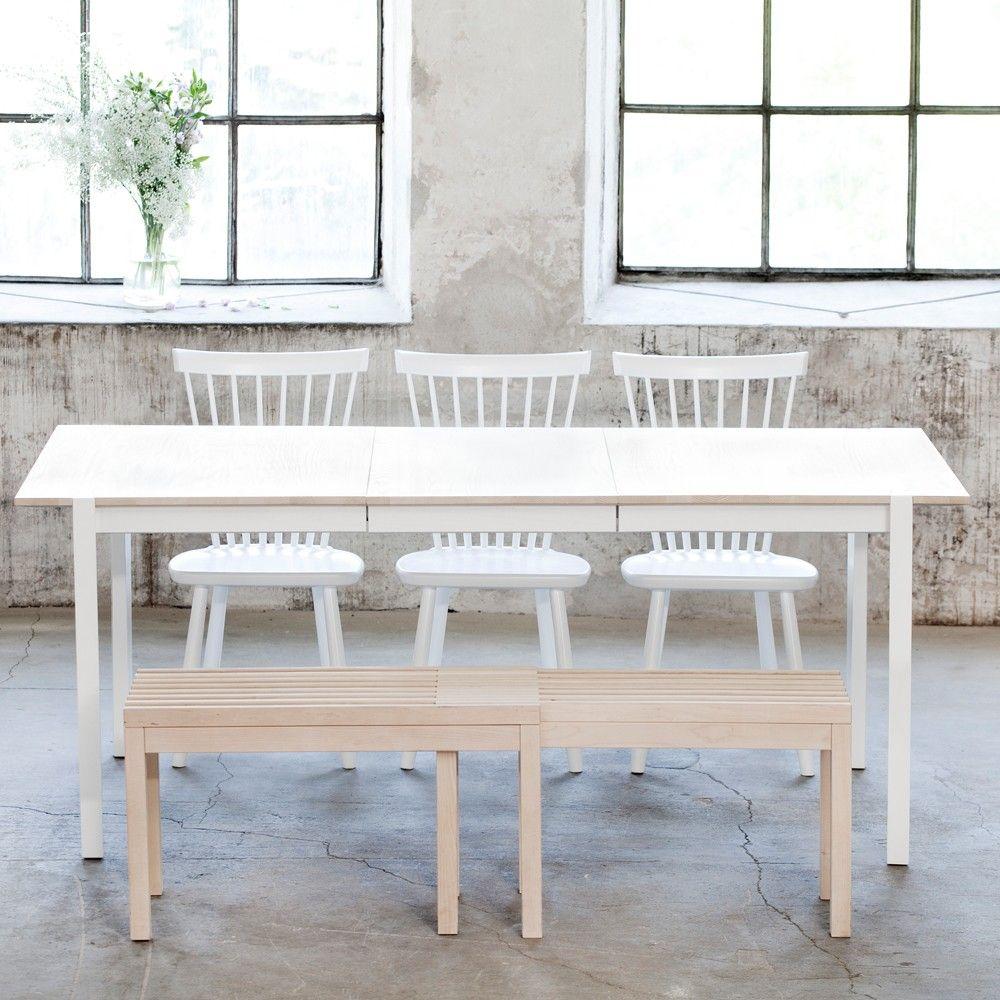 Svenssons i Lammhult Möbler Matbord Please matbord, 140 cm ljust mattlackad ask, 1