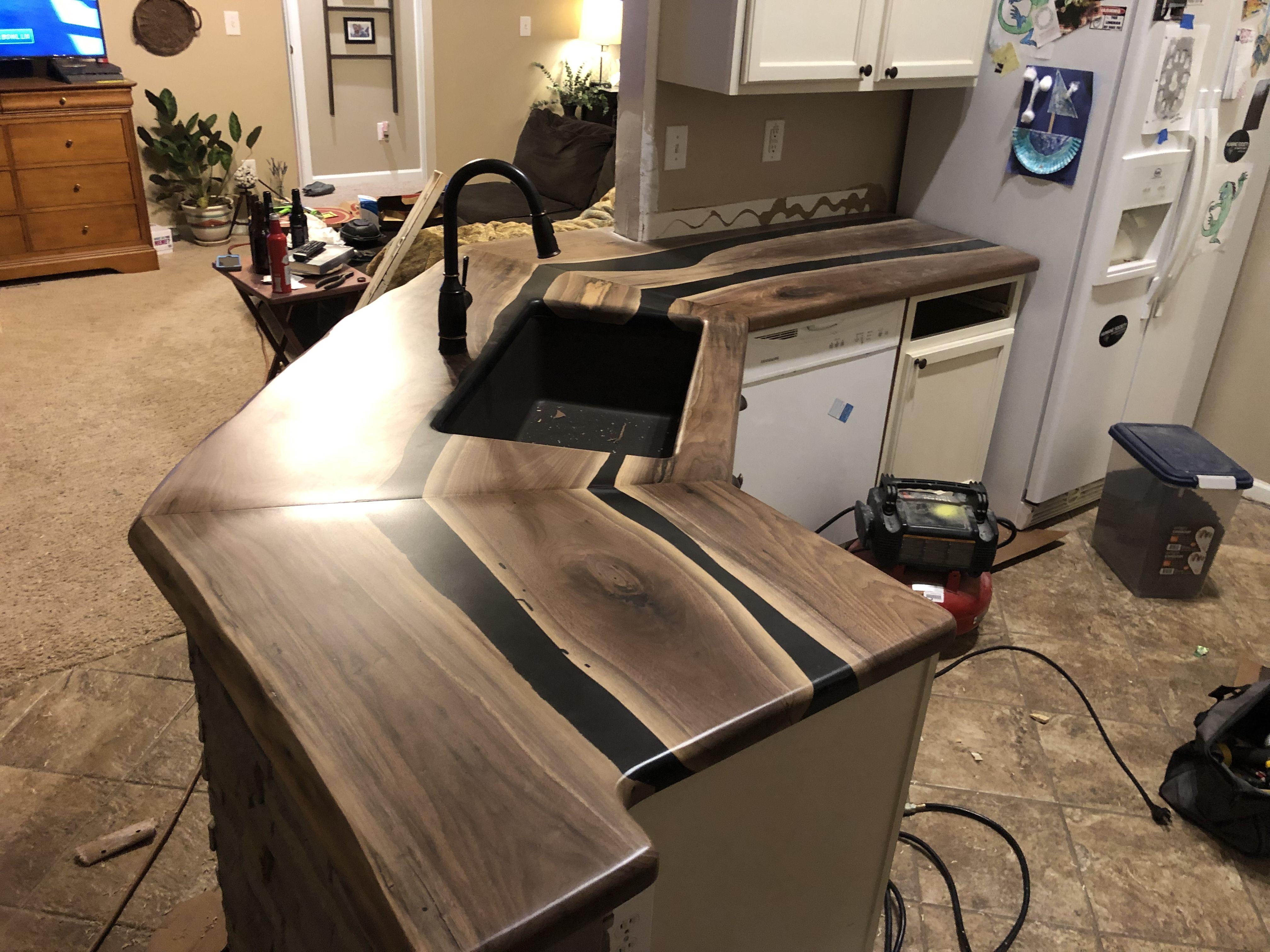 Black Walnut Epoxy River Countertops Epoxy Wood Table
