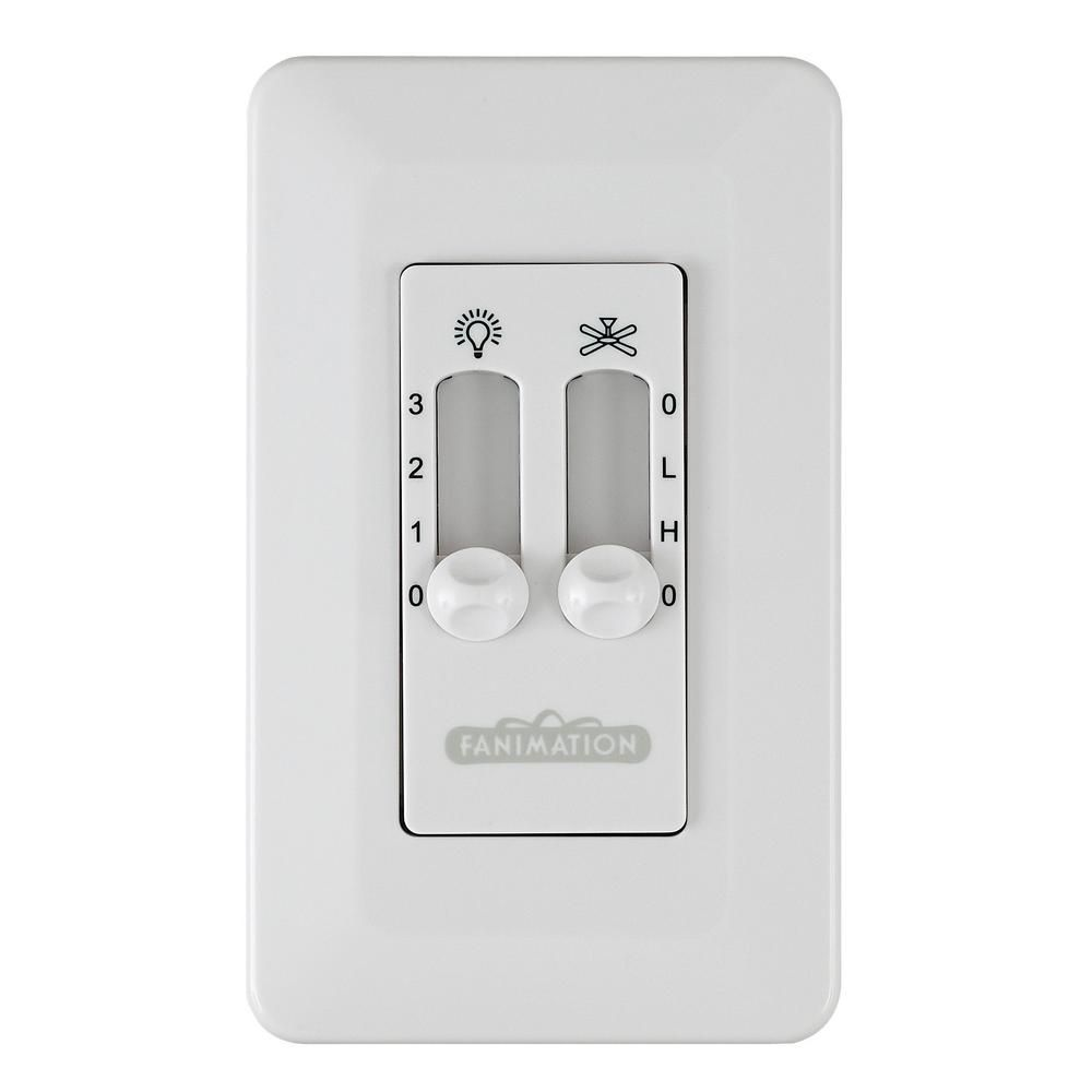 Fanimation 3 Speed Wall Control Non Reversing Switch White Cw6wh The Home Depot In 2021 Fanimation Ceiling Fan Ceiling Fan Accessories Ceiling Fan Remote Controls