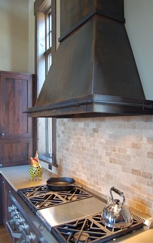 Th Love The Patina Color And Simpleness Of Range Hood Gallery Hoods Kitchens Handcrafted Metal By Raw Urth