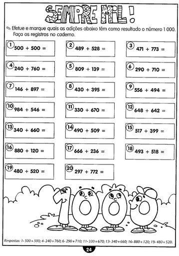 120 Atividades De Matematica Para 3º 4º E 5º Anos Atividades De