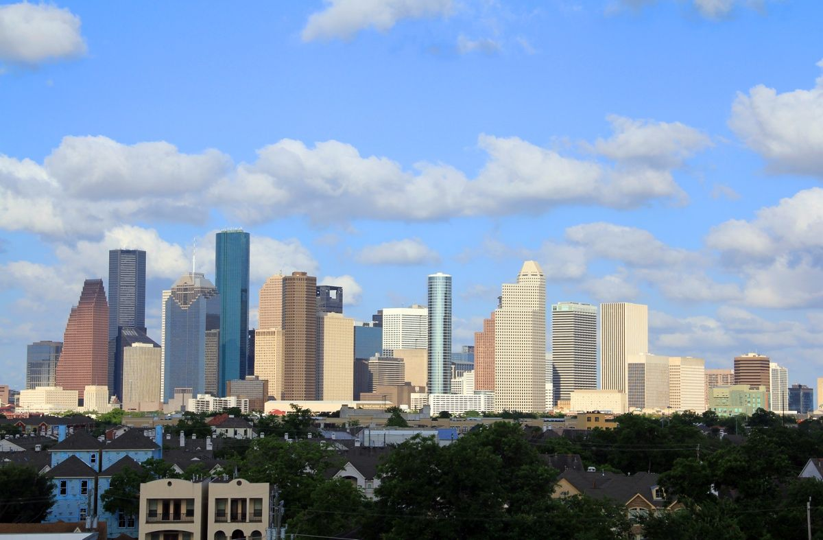 Houston Has The Most Amazing Downtown District In All The South Downtown Houston Skyline San Francisco Skyline