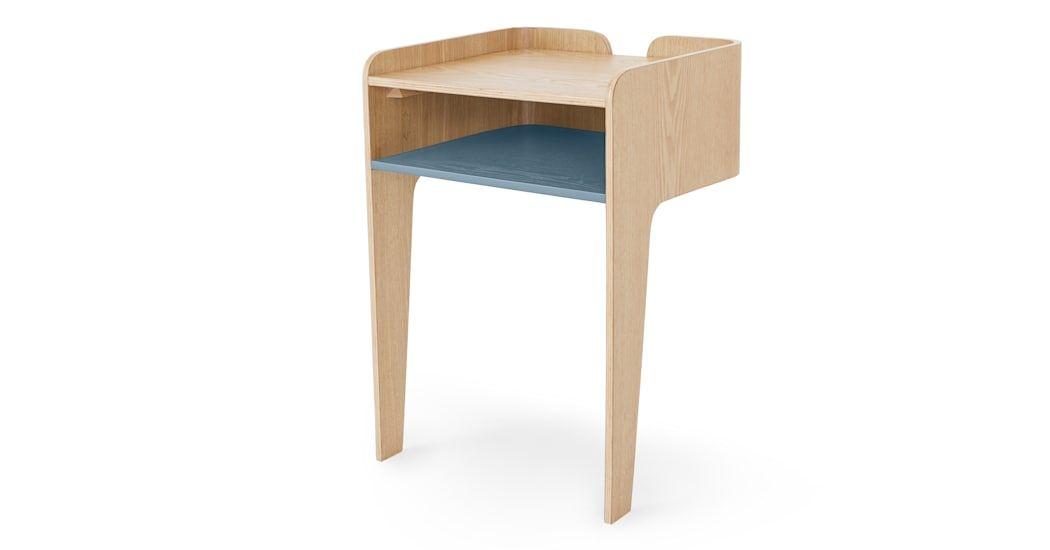 Sway Nachttisch Esche Und Blaugrun Table Bedside Furniture