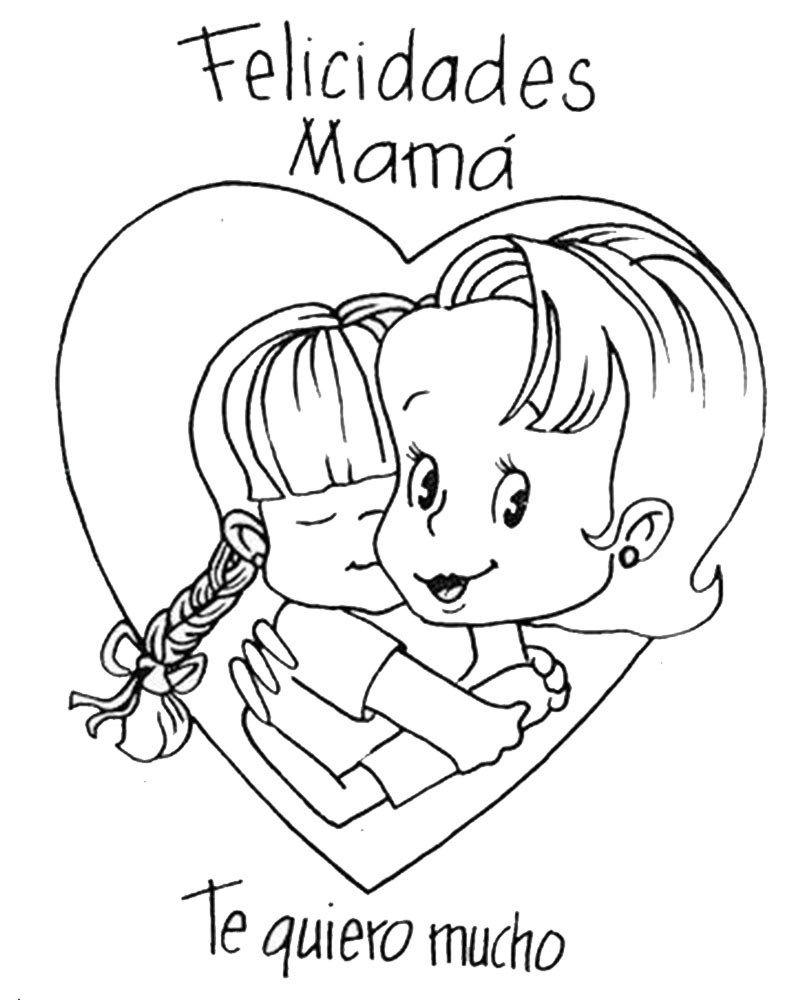 Dibujos Infantiles Dia De La Madre Para Colorear Fathers Day Art Mothers Day Coloring Pages Mother S Day Colors