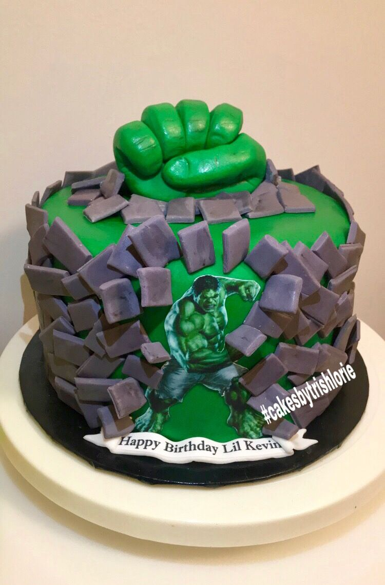Incredible Hulk Cake Cakes by Trish Lorie Pinterest Hulk cakes