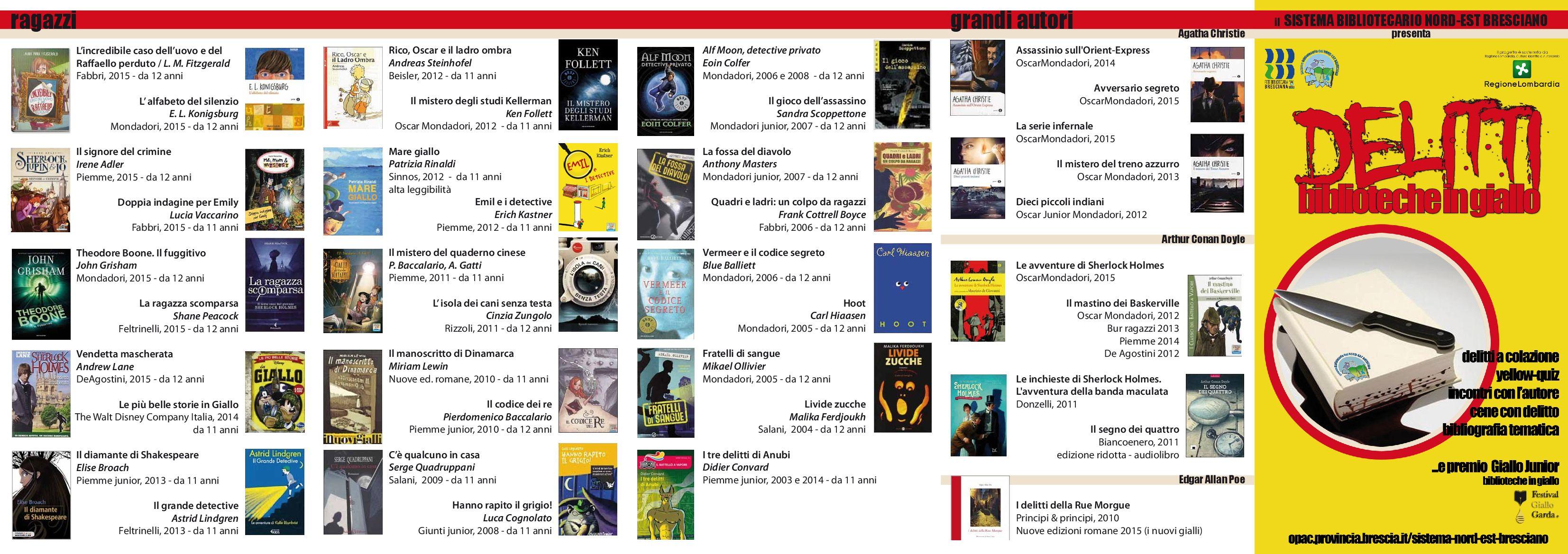 """Bibliografia - """"Indagini Biblioteche in Giallo"""""""
