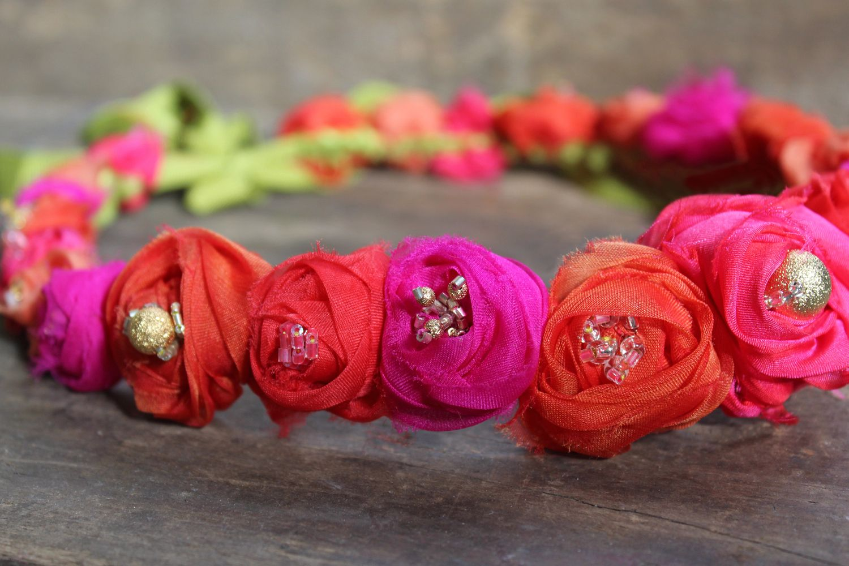 Flower crown for bride, bridesmaid, or flower girl. Boho wedding accessories. destination wedding hair ideas. Kerry Ann Stokes