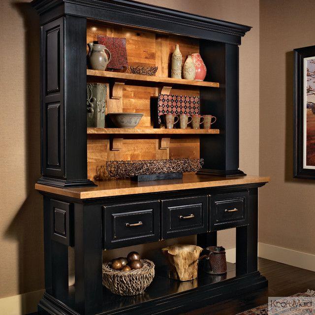 Amazing KraftMaid Cabinetry Vintage Onyx Hutch U2013 Rustic U2013 Kitchen Cabinets Kitchen  Kraftmaid Cabinets | Home Decorating Ideas