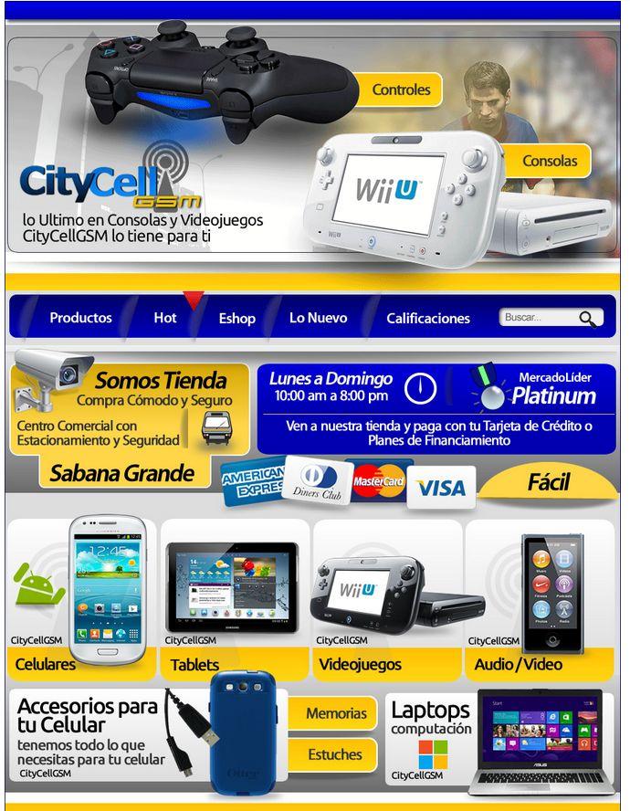 Desarrollo / Publicacion MercadoLibre / Cliente CityCellGSM / Año 2013 - diseño propiedad de XtremoDigital C.A - #xtremodigital #design #mercadolibre #creative #art #business #marketing