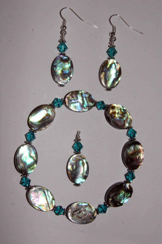 Abalone Jewelry Set. 40.00, via Etsy. Abalone jewelry