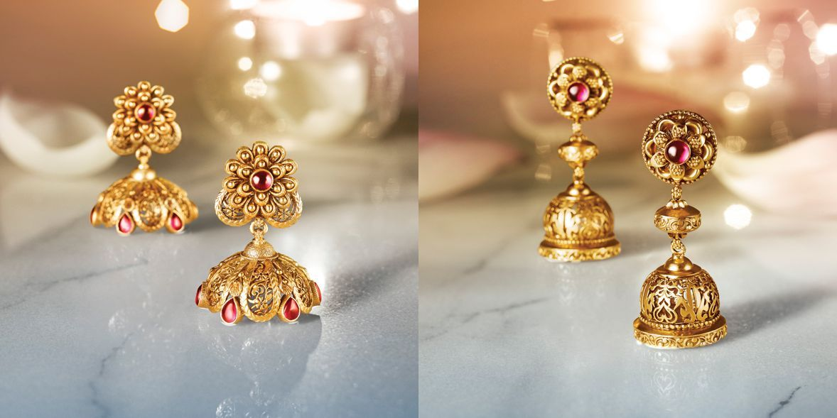 Tanishq Divyam Jewellery - Earrings(1) | Gold Diamond Gold ...