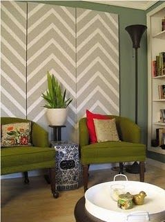Chevron Wall Love The Panels Since We Can T Paint Our Walls A Great Way To Bring In Color Or Pattern