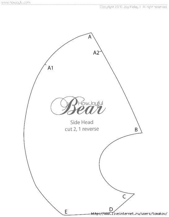 Moldes para hacer un oso de peluche facil - Ideas de Manualidades ...