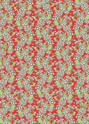 Polyanthus Wrapping Paper