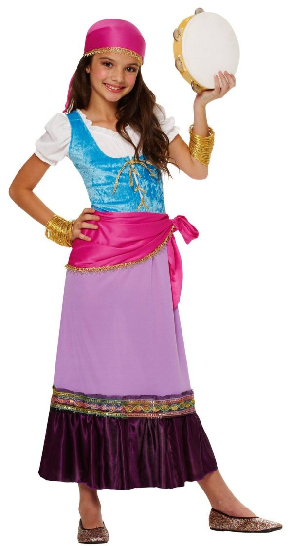 Mädchenkostüm zubehör Ideen-Gypsy Zigeunerkind Party-Fasching - halloween ideas girls