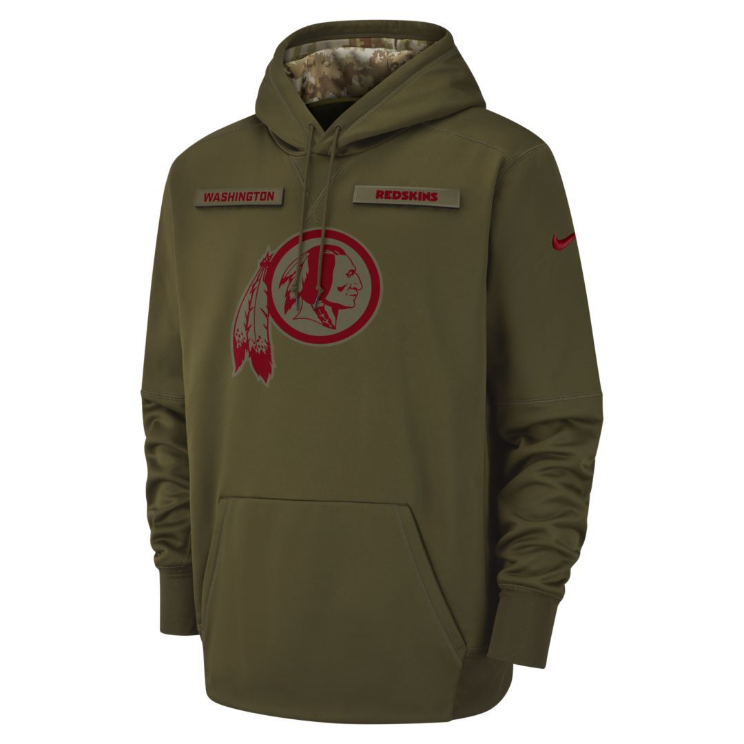 b840aa412 Nike Therma Salute to Service (NFL Redskins) Big Kids  Hoodie Size M (Olive)
