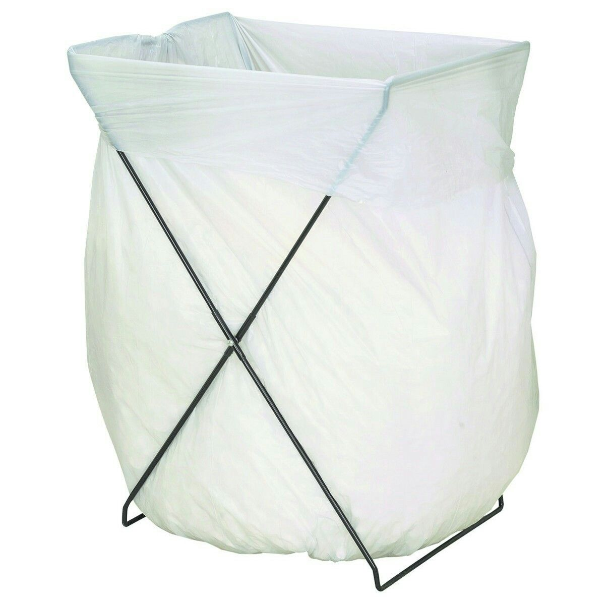 This Folding Trash Bag Stand And Holder Makes It Easy To Get Leaves And  Other Debris Into A Trash Bag. This Metal Stand Features Heavy Duty Welded  Steel ...