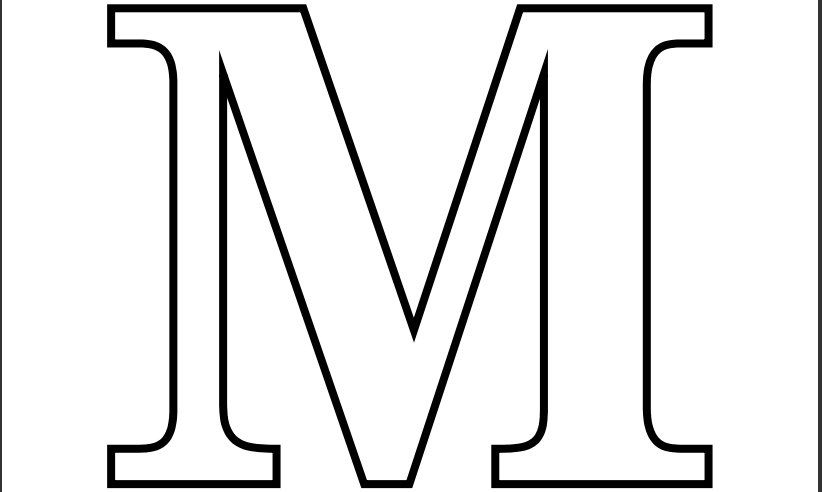 printable pdf letter m coloring page - Printable Coloring Letters