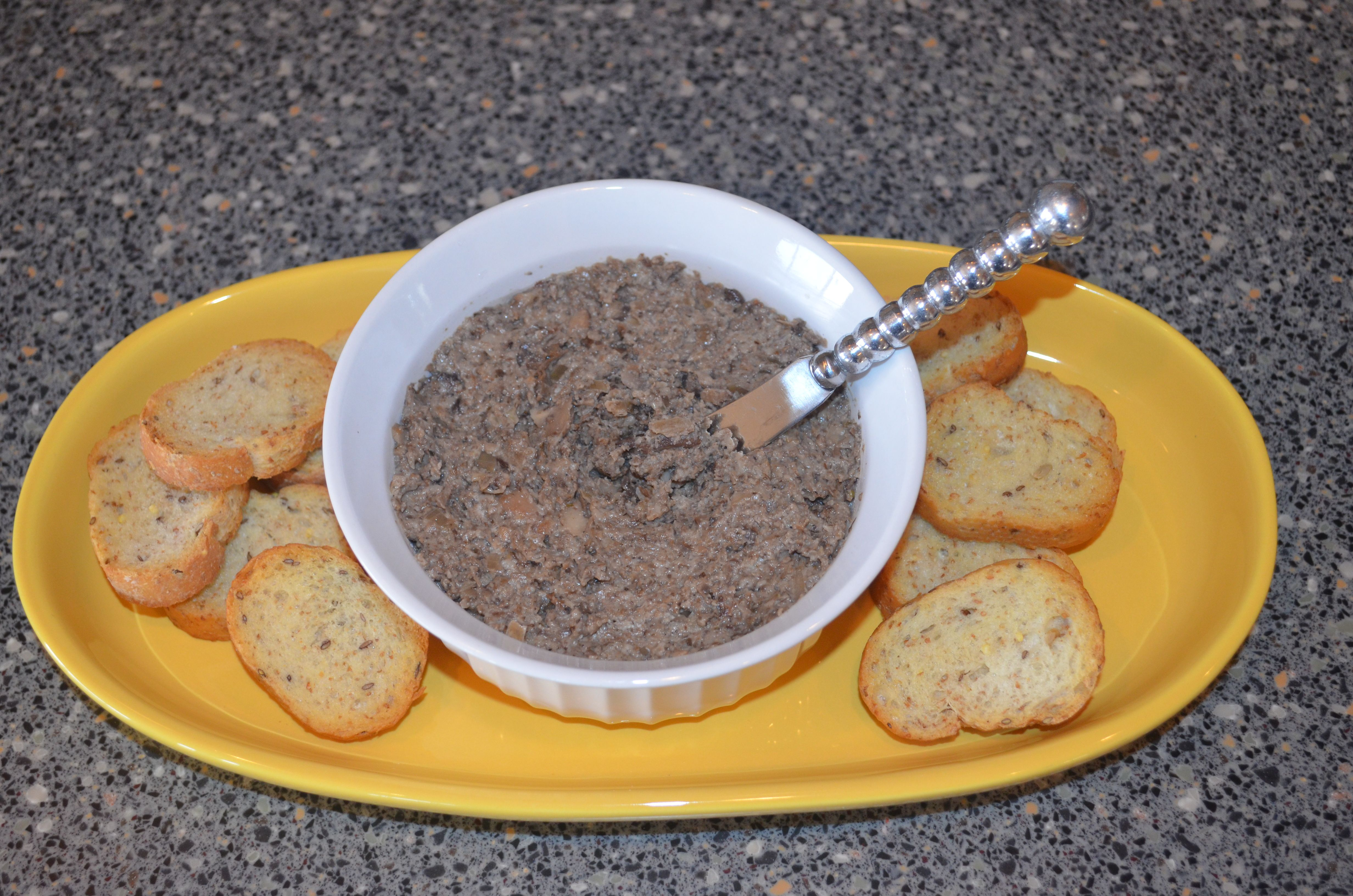 A super-easy and trés chic recipe for Brandied Wild Mushroom Pâté, from Sharing the Table at Garland's Lodge cookbook by Amanda Stine and Mary Garland