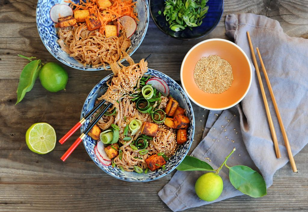 vegan style chow fun noodle recipe brown rice noodles