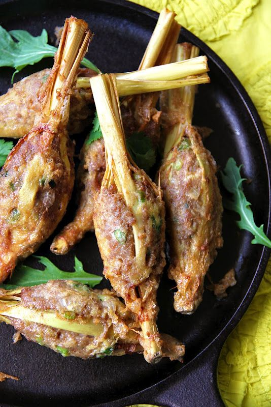 Lao stuffed lemongrass chicken for Ano thai lao cuisine