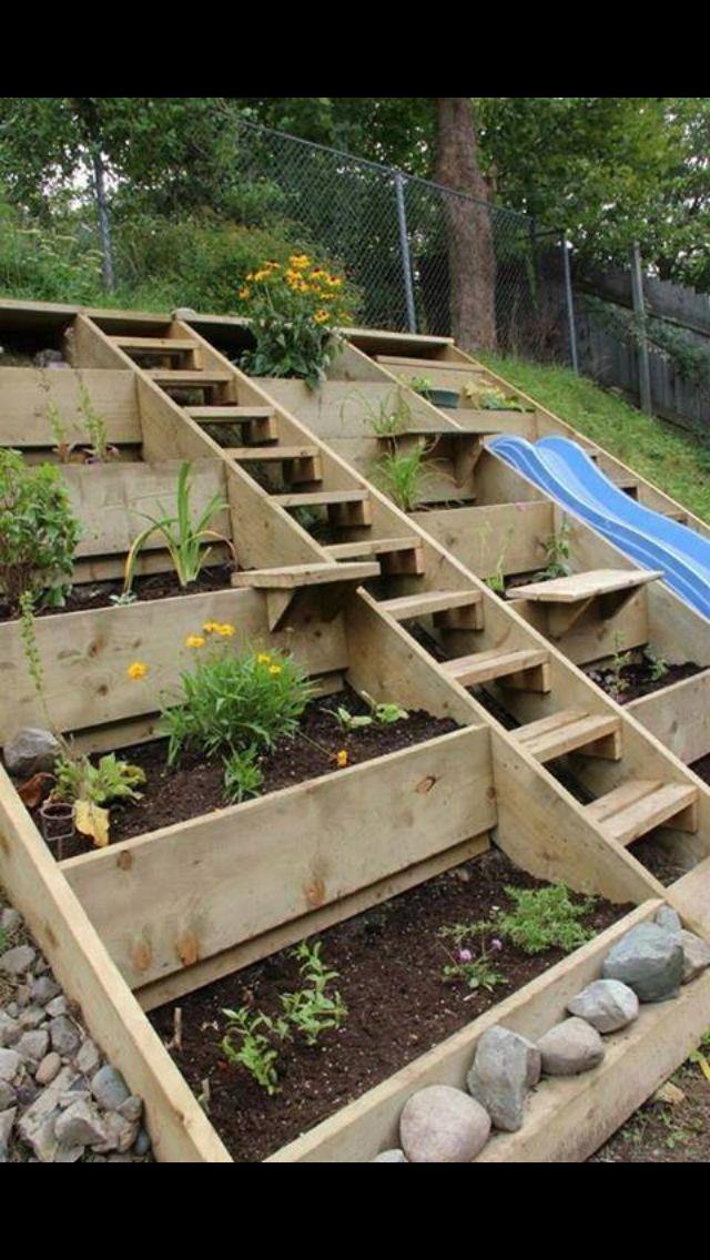 Inclined garden | Sloped garden on Inclined Backyard Ideas id=91254