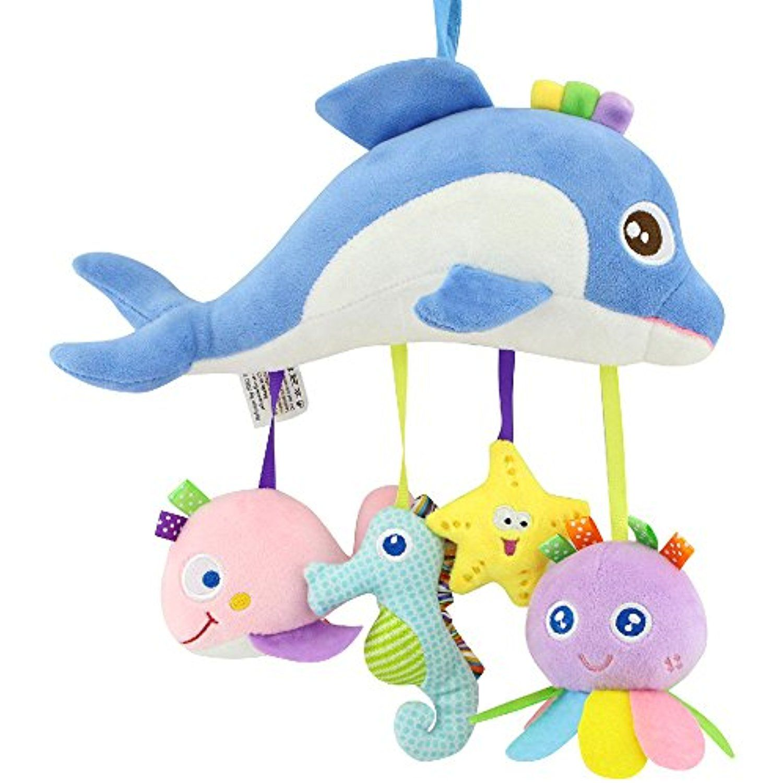 Happy Monkey Plush Rattles Toys Ocean series *** Be sure