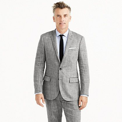 J.Crew - Ludlow suit jacket in herringbone Italian linen-silk ...