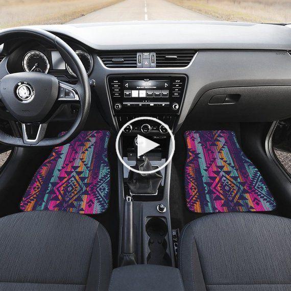 Boho Color Streaks Car Floor Mats, Car Floor Mats Set, Floor Mats for Car, Bohemian, Boho Chic