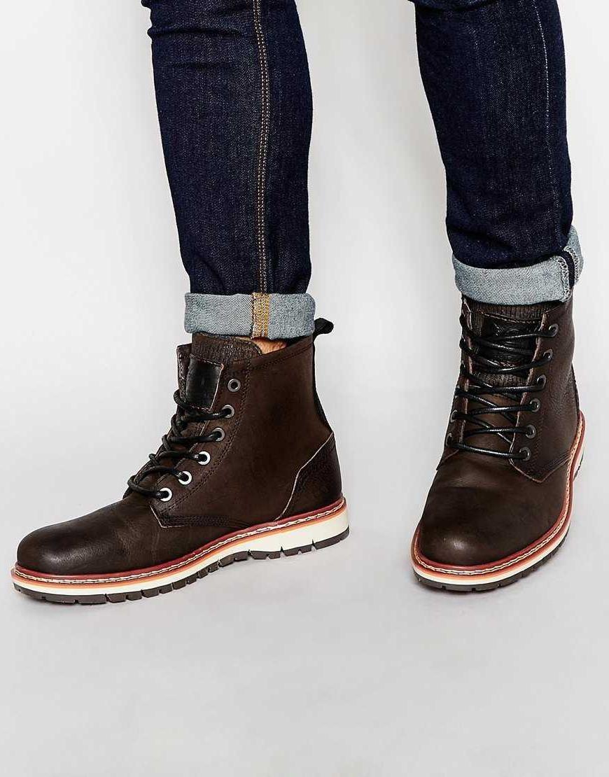 c316f0bfdc5 Resultado de imagen para botas de cuero hombre | Botines Men | Botas ...