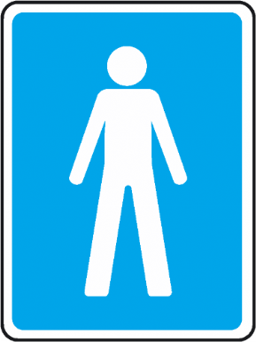 Male Toilet Sign Toilet Sign Room Signs Door Signs