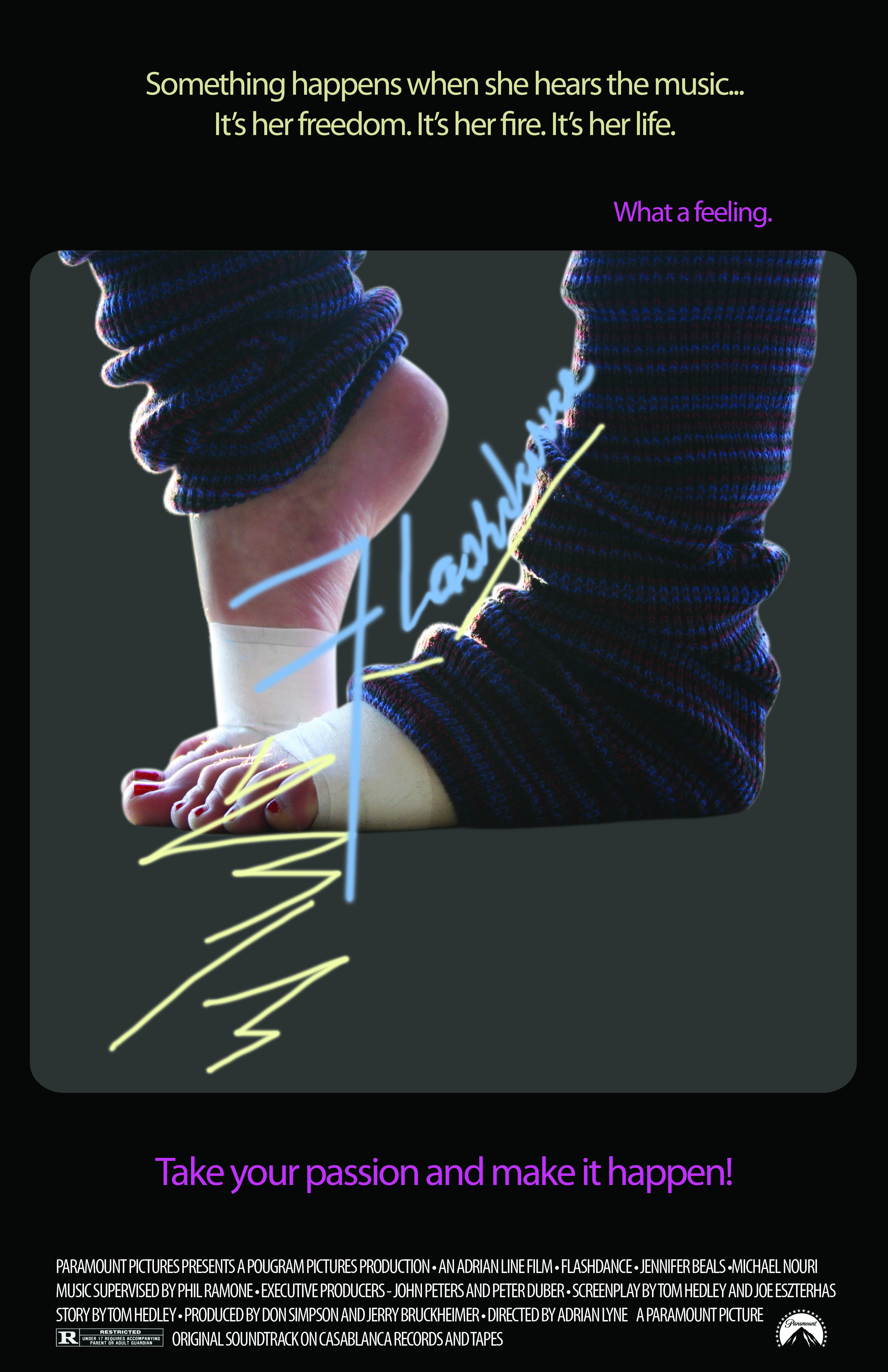 'Flashdance' (1983) Flashdance Movie, Cool Posters, Film Posters, Dance