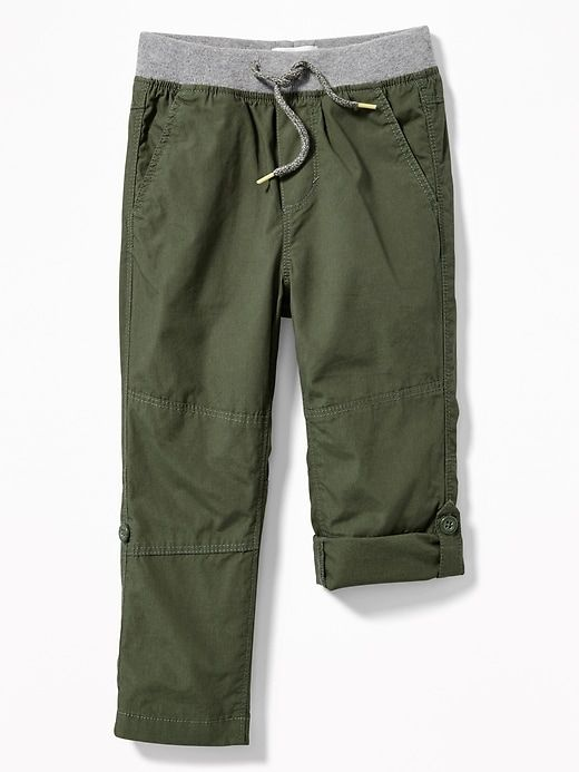 4e15b941e Rib-Waist Poplin Roll-Up Pants for Toddler Boys | CHILDRENS CLOTHES ...
