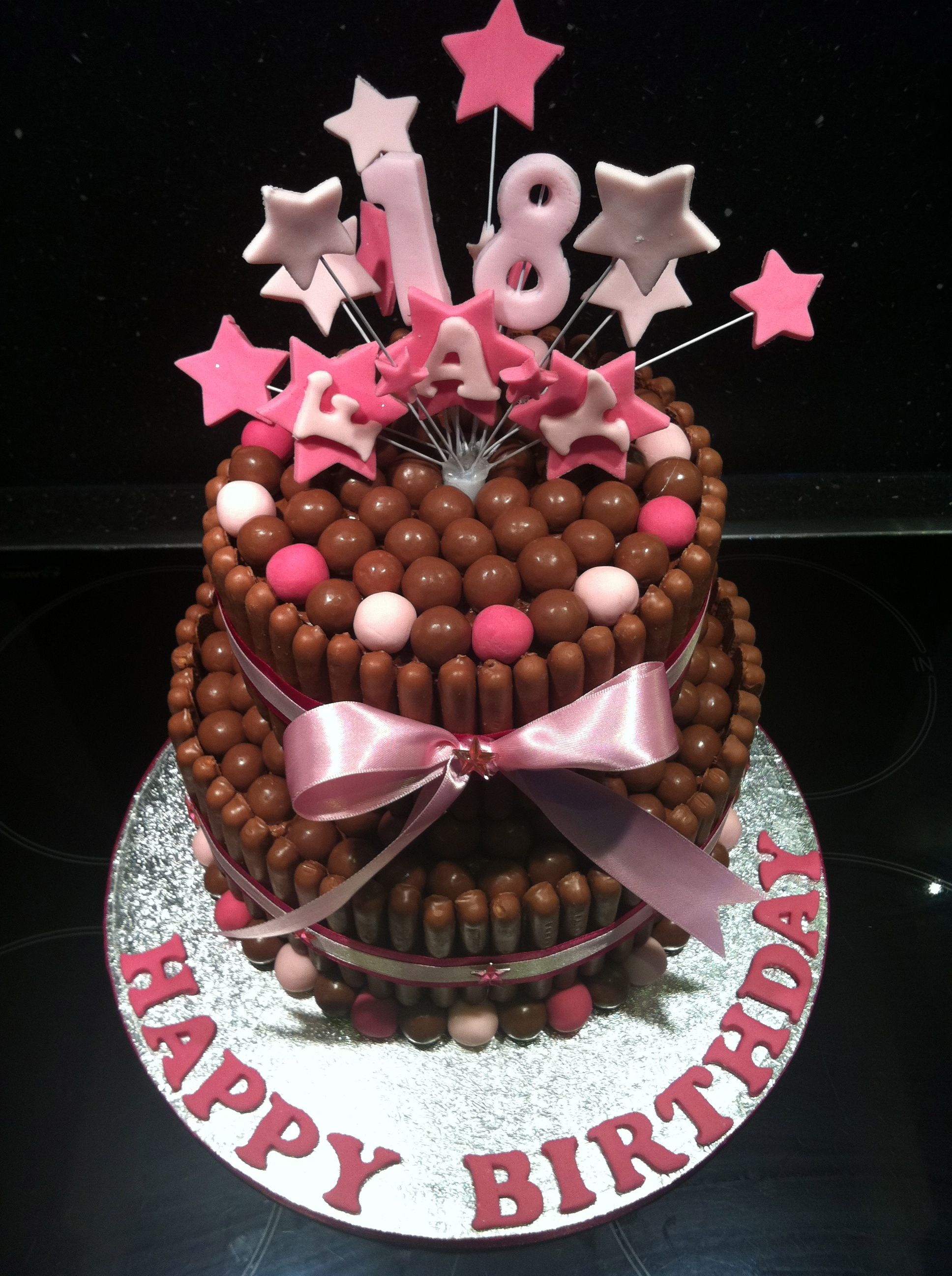 Sides Are Biscuit Sticks Chocolate Finger Cake Malteser