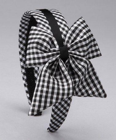 Loving this Black Gingham Bow Headband on #zulily! #zulilyfinds